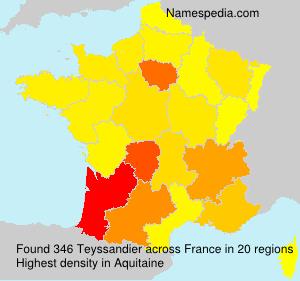 Familiennamen Teyssandier - France