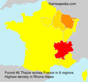 Surname Thaize in France