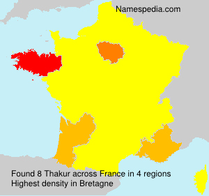 Familiennamen Thakur - France