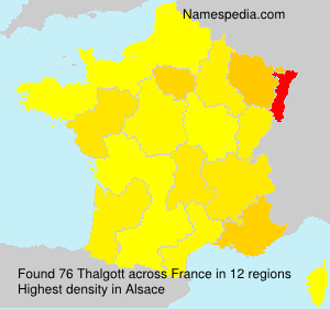 Surname Thalgott in France