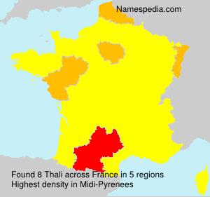 Surname Thali in France