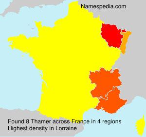 Familiennamen Thamer - France