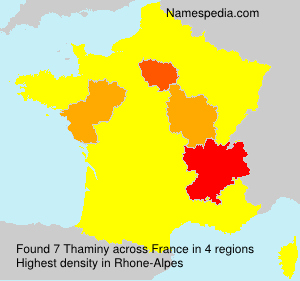 Surname Thaminy in France