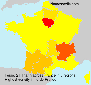 Surname Thanh in France