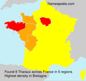 Surname Tharaux in France