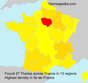 Surname Tharsis in France