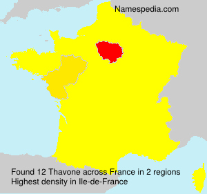 Surname Thavone in France