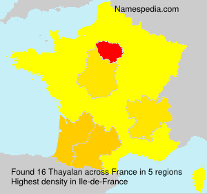 Surname Thayalan in France