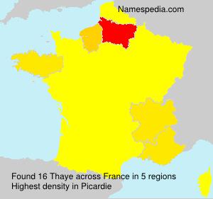 Familiennamen Thaye - France