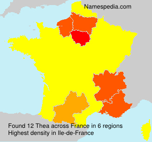 Surname Thea in France