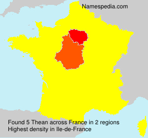 Surname Thean in France