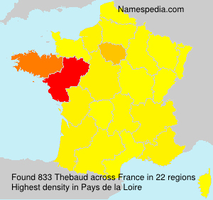 Surname Thebaud in France