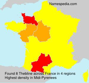 Familiennamen Thebline - France