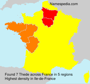 Surname Thede in France