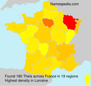 Surname Theis in France