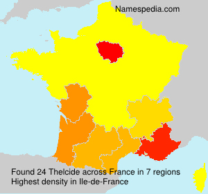Surname Thelcide in France