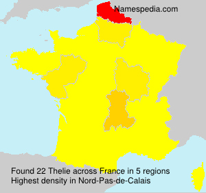 Surname Thelie in France