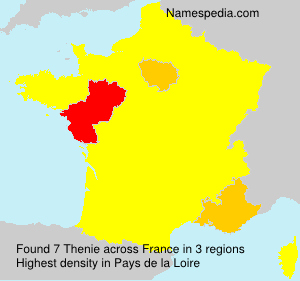 Surname Thenie in France