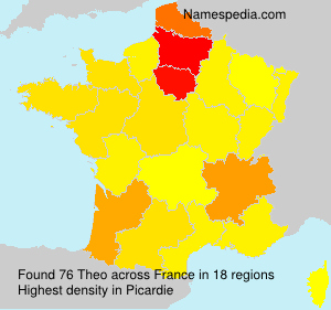 Surname Theo in France