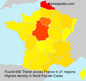 Surname Theret in France