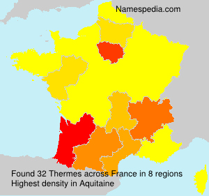 Surname Thermes in France