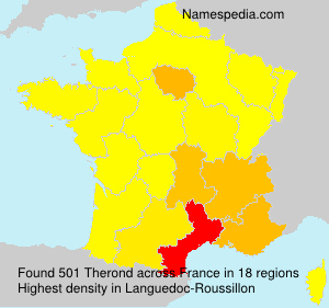 Surname Therond in France