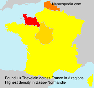 Surname Thevelein in France