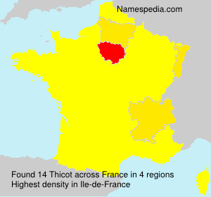 Surname Thicot in France