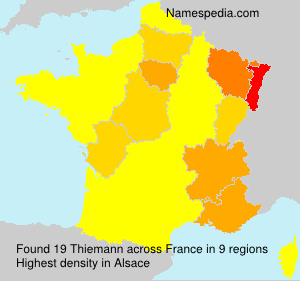 Surname Thiemann in France