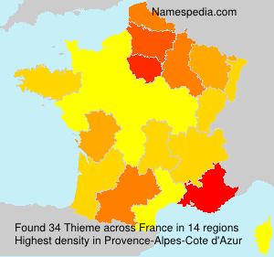 Surname Thieme in France