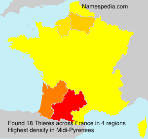 Surname Thieres in France