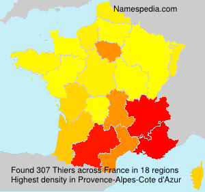 Surname Thiers in France