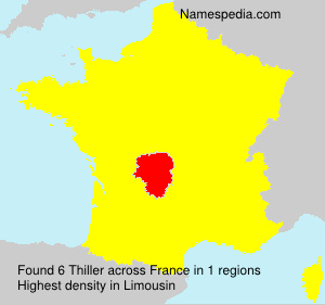 Surname Thiller in France