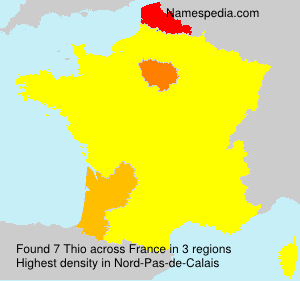 Surname Thio in France
