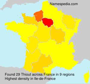 Surname Thiout in France