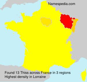Familiennamen Thiss - France