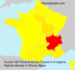 Surname Thivend in France