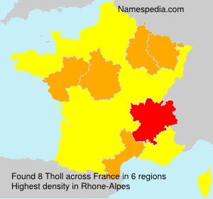 Surname Tholl in France