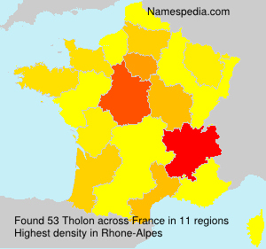 Surname Tholon in France