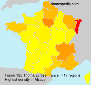 Surname Thoma in France