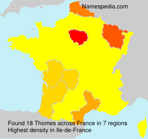 Surname Thomes in France