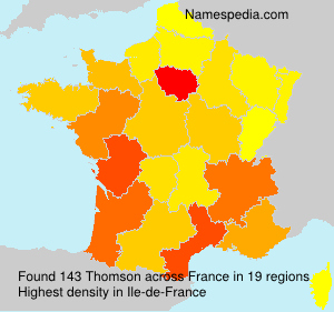 Surname Thomson in France