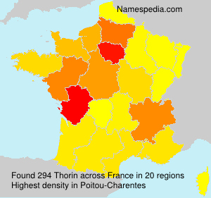 Surname Thorin in France
