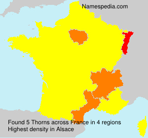 Surname Thorns in France