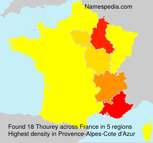 Surname Thourey in France