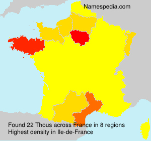Surname Thous in France