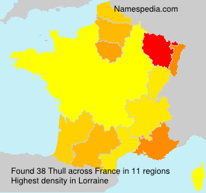 Surname Thull in France