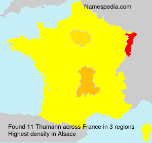 Surname Thumann in France