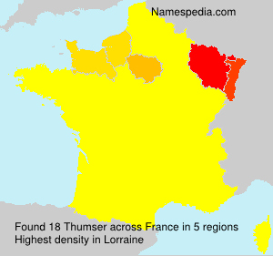 Surname Thumser in France