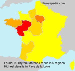 Surname Thyreau in France